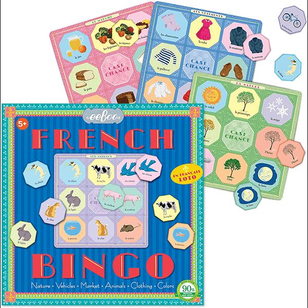 Eeboo French Vocabulary Bingo