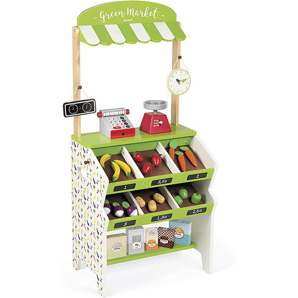 Janod Green Market Grocery Playset