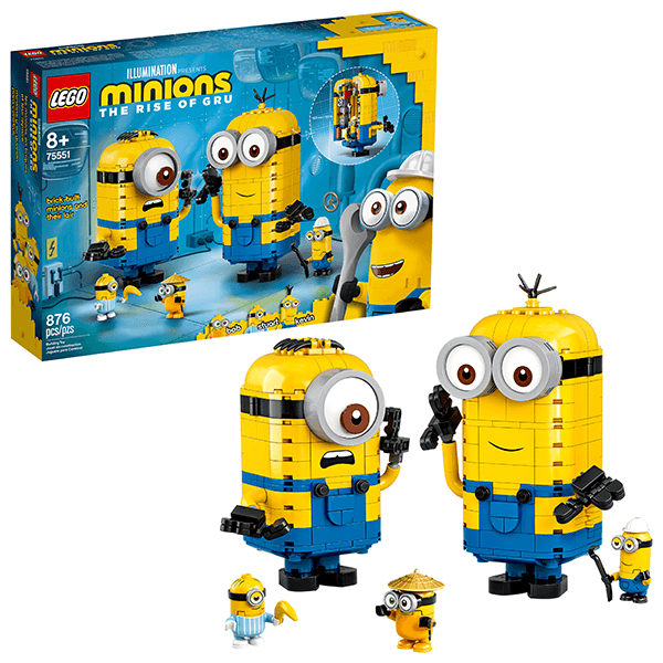 LEGO® Minions 75551 Brick-built Minions and their Lair