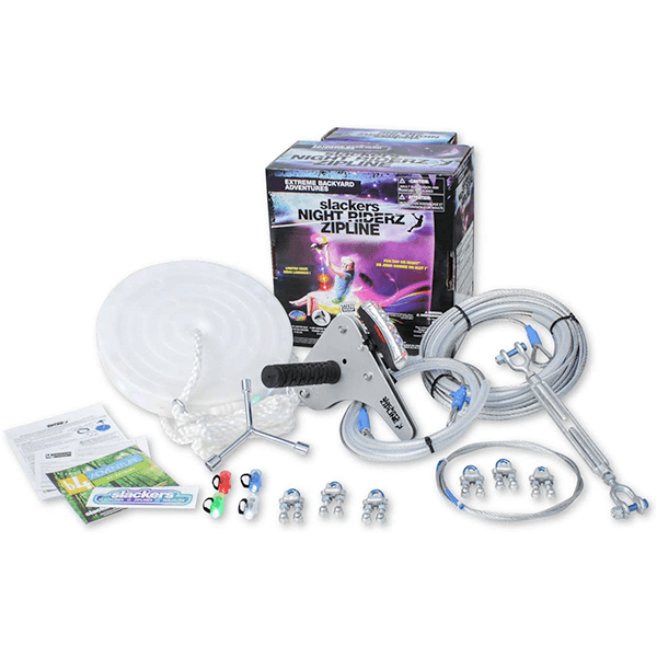 Slackers 100' Night Riderz Series Zipline Kit