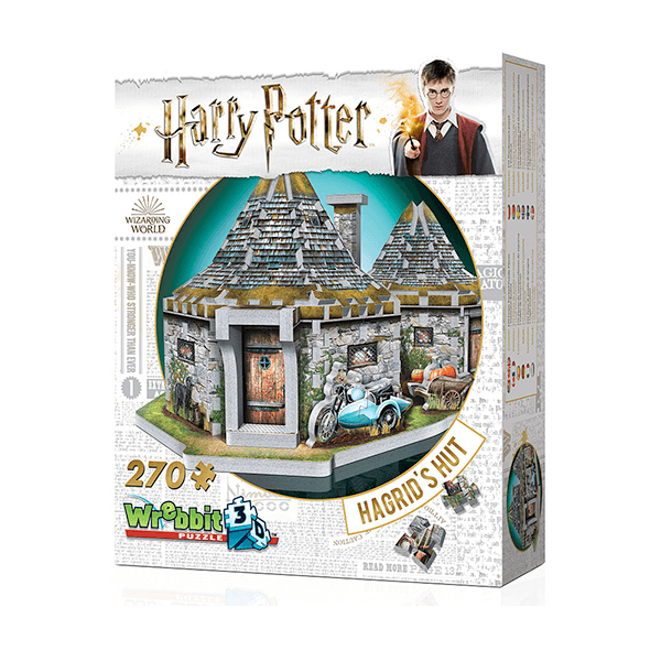 Wrebbit 3D Harry Potter Hagrid's Hut Jigsaw Puzzle