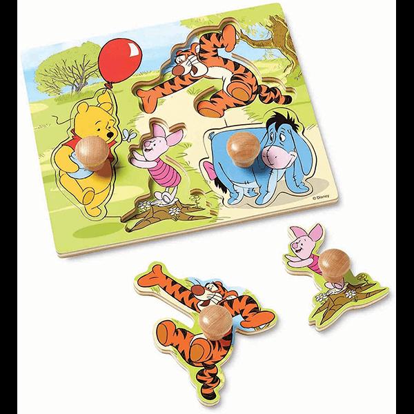 Melissa & Doug Winnie the Pooh Wooden Jumbo Knob Puzzle