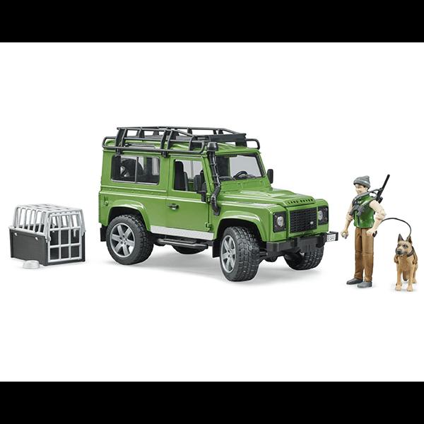 Bruder Land Rover Defender with Forest Ranger and Dog