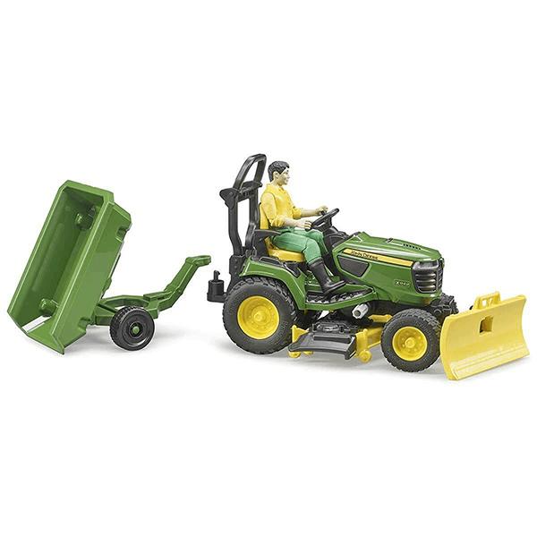 Bruder John Deere Lawn Tractor with Trailer