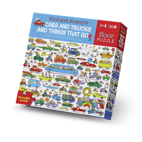 Crocodile Creek Richard Scarry® Cars & Trucks 36-pc Puzzle