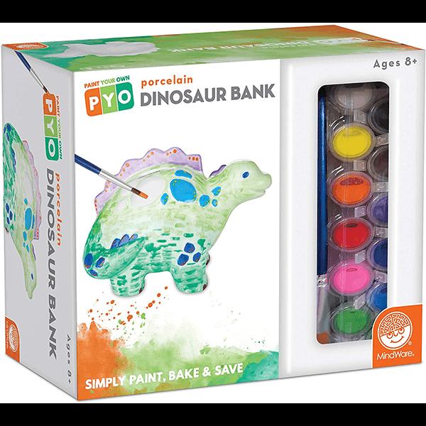 Mindware Paint Your Own Porcelain Bank: Dinosaur
