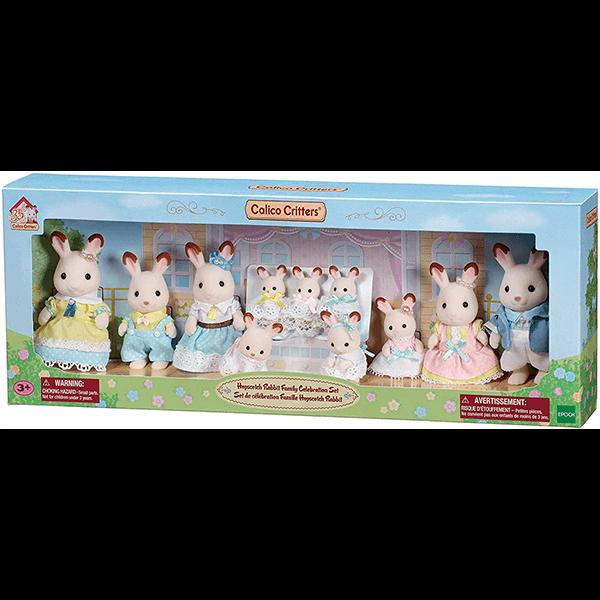 Calico Critters Hopscotch Rabbit Family Celebration Set