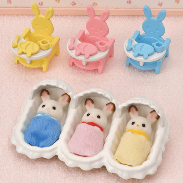 Calico Critters Triplet Care Set