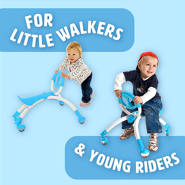 YBike Pewi Blue Ride-On Toy and Walking Buddy