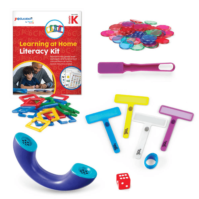 JR Education Learning at Home Literacy Kit - Kindergarten