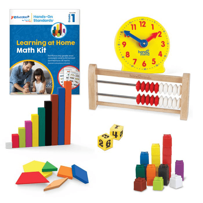 JR Education Hands on Standards Learning at Home Math - Grade 1