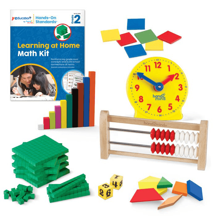 JR Education Hands on Standards Learning at Home Math - Grade 2