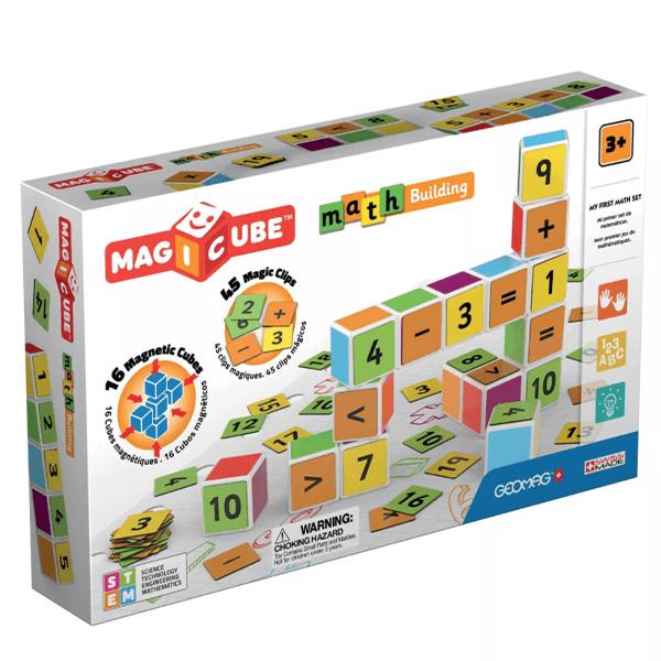 GeoMag Magicube Math Magnetic Building Set (61 Pieces)