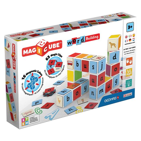 GeoMag Magicube Word Building Set (79 Pieces)