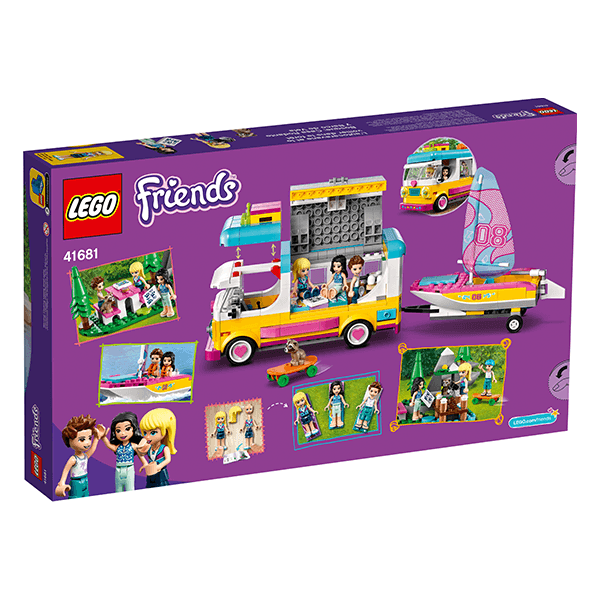 LEGO® Friends 41681 Forest Camper Van and Sailboat