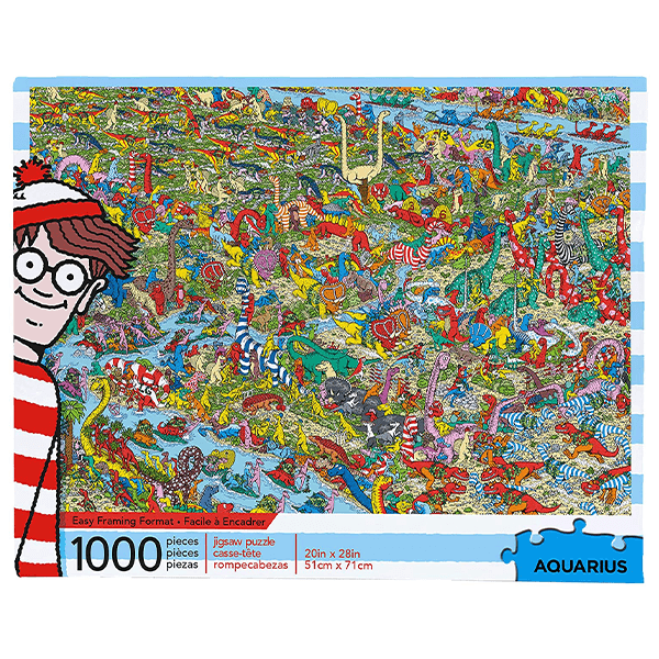 Where's Waldo - Dinosaurs 1000 Piece Puzzle