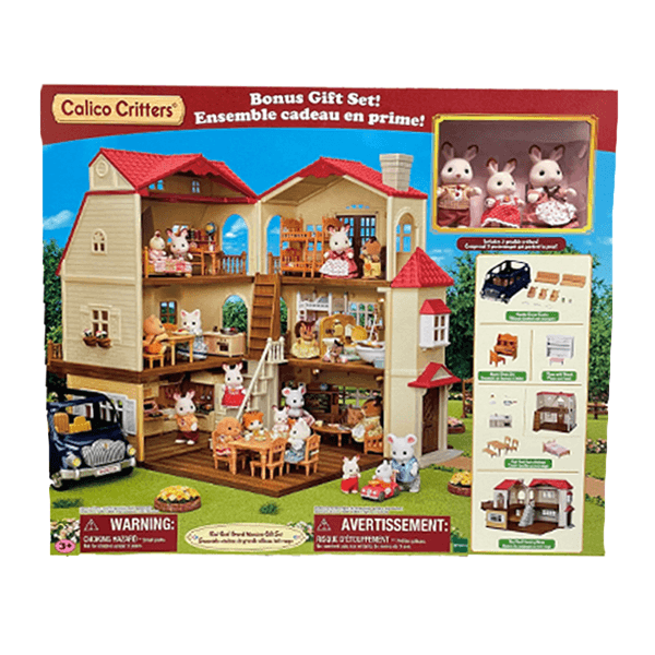 Calico Critters Red Roof Grand Mansion Gift Set
