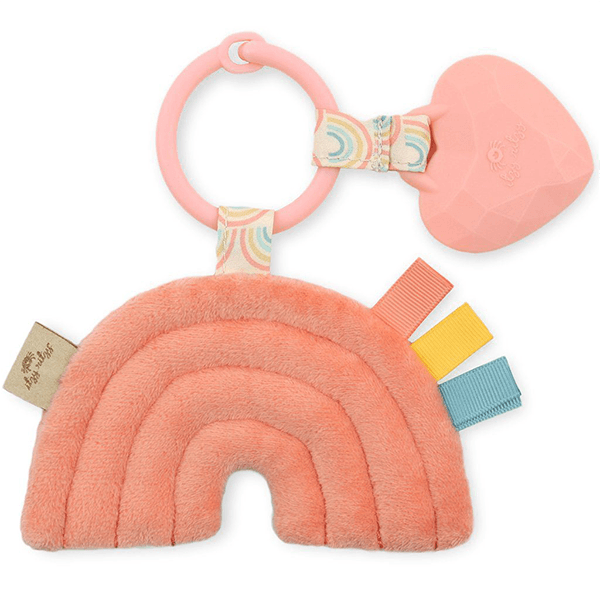 Itzy Ritzy Rainbow Itzy Pal Plush and Teether