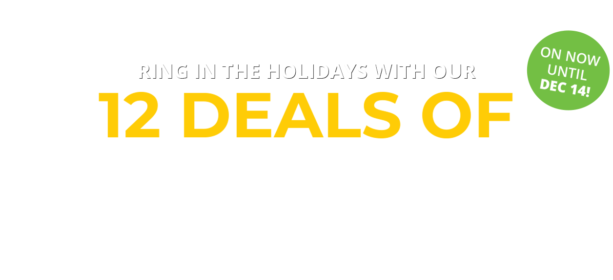 12 Deals of Christmas Sale on Now