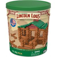K'NEX Lincoln Logs 100th Anniversary Tin