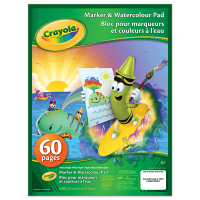 Crayola Marker & Watercolour Pad 60 Sheets