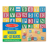 Melissa & Doug Wooden ABC - 123 Blocks