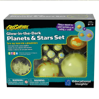 Educational Insights GeoSafari Glow in the Dark Planets & Stars Set