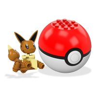 Mattel Mega Construx Pokemon Eevee Pokeball Set