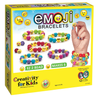 Creativity for Kids Emoji Bead Bracelet Craft Kit - Box Front