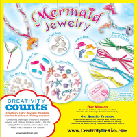 Creativity for Kids Mermaid Jewelry Kit - Box Back