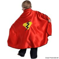 Great Pretenders Adventure Cape with Reversible Red Mask Size 5-6- 1