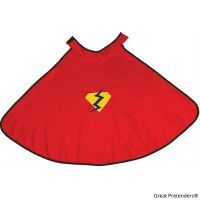 Great Pretenders Adventure Cape with Reversible Red Mask Size 5-6 - 2