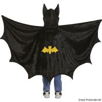 Great Pretenders Bat Cape with Black Hood (Size 5-6)