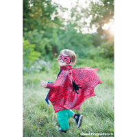 Great Pretenders Red & Blue Spider Cape Set (Size 3-4)