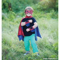 Great Pretenders Red & Blue Spider Cape Set - 2