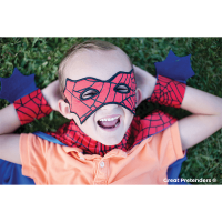 Great Pretenders Red & Blue Spider Cape Set - 3