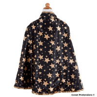 Great Pretenders Reversible Wizard Cape & Hat Size 4-6