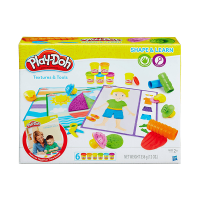 Play Doh Shape & Learn Texture & Tools