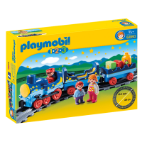 Open Box Playmobil 1.2.3 Night Train with Track