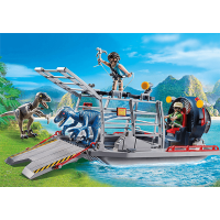 Playmobil Dinos Enemy Airboat with Raptor