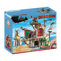 Open Box Playmobil How to Train Your Dragon Berk Fortress Building Kit